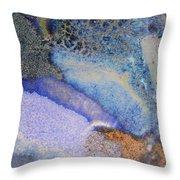 42. Blue Purple Black Glaze Painting Throw Pillow