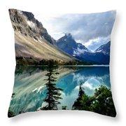 J C Landscape Throw Pillow