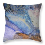 42. V2 Blue Purple Orange Black Glaze Painting Throw Pillow