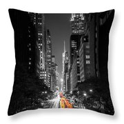 42nd Street Nyc Throw Pillow