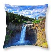 P G Landscape Throw Pillow