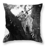 Silent Film Still: Couples Throw Pillow