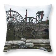 4357- Water Wheels Throw Pillow