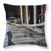 4369- Taffy Puller Throw Pillow