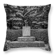 4387- Sculpture Black And Whi Throw Pillow