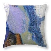 44. Blue Purple White Glaze Painting Throw Pillow