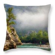 Landscape Luminous Throw Pillow