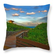 44- Ocean Reef Park Singer Island Throw Pillow