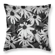 4400- Daisies Black And White Throw Pillow