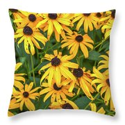 4400- Flowers Throw Pillow