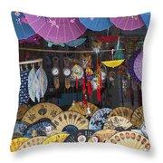 4412- Fan Shop Throw Pillow