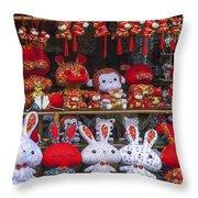 4420- Souvenir Shop Throw Pillow
