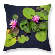 4425- Lily Pads Throw Pillow