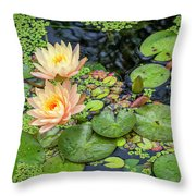 4445- Lily Pads Throw Pillow