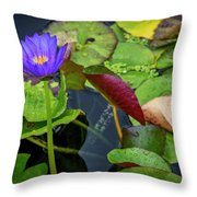 4466- Lily Pads Throw Pillow