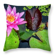4475- Lily Pads Throw Pillow