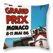 44th Monaco Grand Prix 1986 Throw Pillow