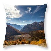 Graphic Landscape Throw Pillow
