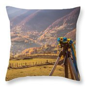 Land Of Ukraine Throw Pillow