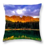 W Landscape Mn Throw Pillow
