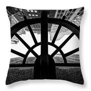45 Wall Street, Lower Manhattan New York Throw Pillow