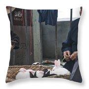4564- Rabbit Vender Throw Pillow