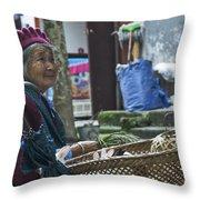 4566- Rabbit Vender Throw Pillow