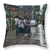 4585- Workers Throw Pillow