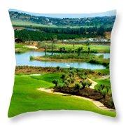 Landscape Art Throw Pillow