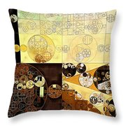 Abstract Painting - Zinnwaldite Brown Throw Pillow