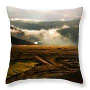 J H Landscape Throw Pillow