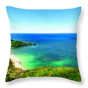 Landscape Lighting Throw Pillow