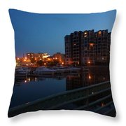 Racine Coastal Seascape - Michigan Lake In Wisconsin By Adam Asar Throw Pillow