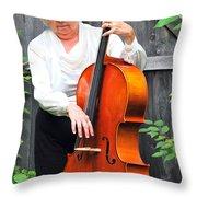 Female Cellist. Throw Pillow