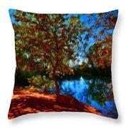 Landscape Paintings Canvas Prints Throw Pillow