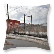 4814 Dunn Street Urban Exploration Throw Pillow
