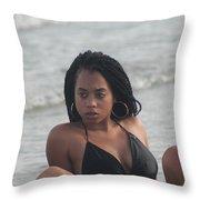 Black Bikinis 49 Throw Pillow