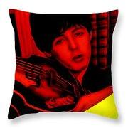 Paul Mccartney Collection Throw Pillow