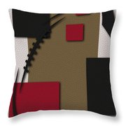 49ers Football Art Throw Pillow