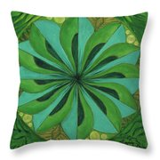 4th Mandala - Heart Chakra Throw Pillow