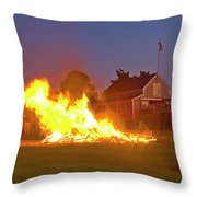 4th Of July 2010 Byc Throw Pillow by Charles Harden