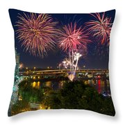 4th Of July Fireworks Throw Pillow
