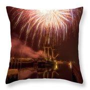 4th Of July Salem Mass Throw Pillow