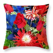 4th Of July Surprise  Throw Pillow