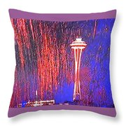 4th Space Needle Throw Pillow