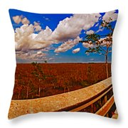 4x1 Everglades Panorama Number Two Throw Pillow