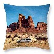 4x4 At Lake Powell Throw Pillow