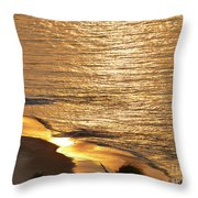 Golden Scenery Throw Pillow