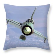 A Bulgarian Air Force Mig-21bis Armed Throw Pillow