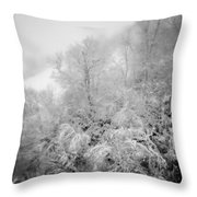 Abstract Scenes At Ski Resort During Snow Storm Throw Pillow